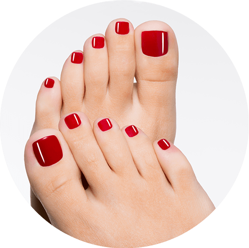 Mindful pedicure